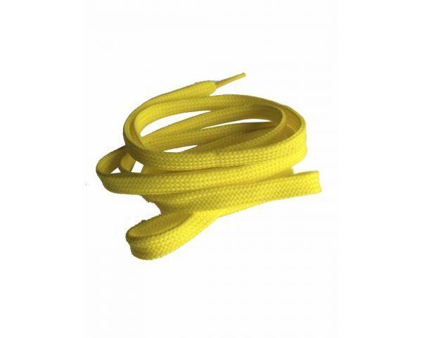 Cordón plano amarillo