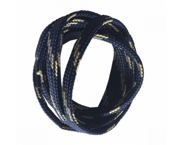 Cordón plano azul-beige