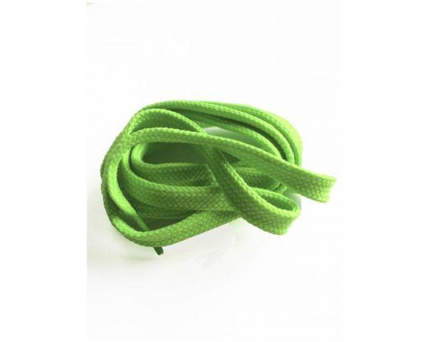 Cordón plano verde fluorescente