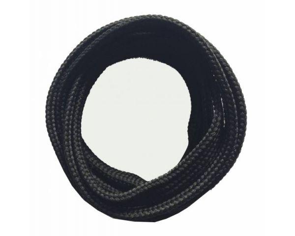 Cordón plano negro