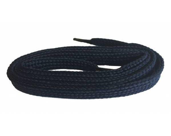 Cordón plano ancho skate negro