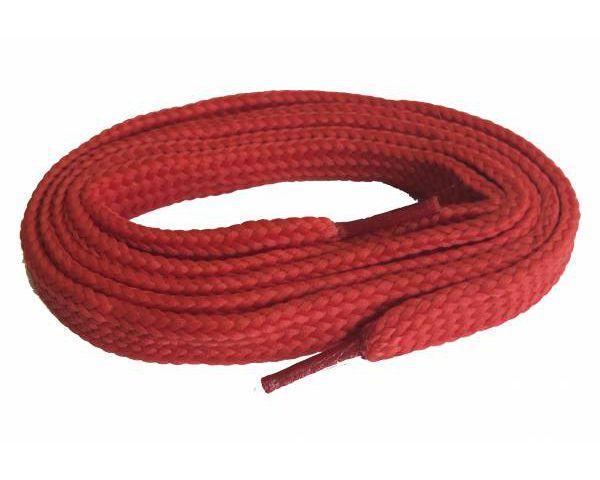 Cordón plano ancho skate rojo
