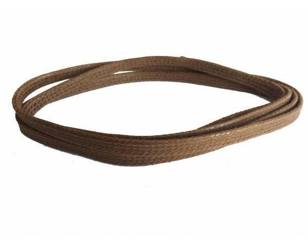 Cordón plano fino encerado camel