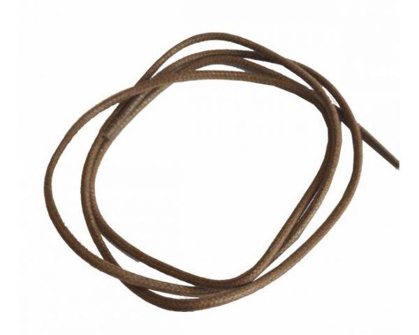 Cordón encerado redondo fino camel
