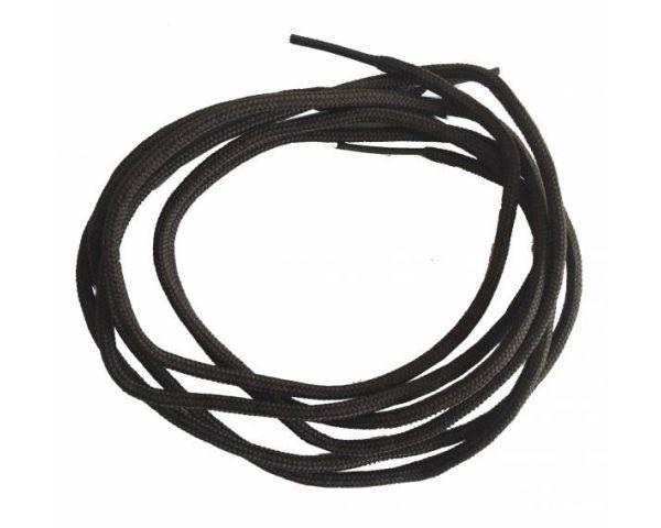 Cordón redondo fino marrón oscuro