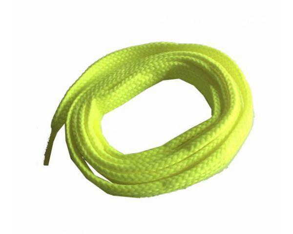 Cordón plano ancho skate amarillo fluorescente