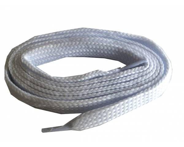 Cordón plano ancho skate blanco