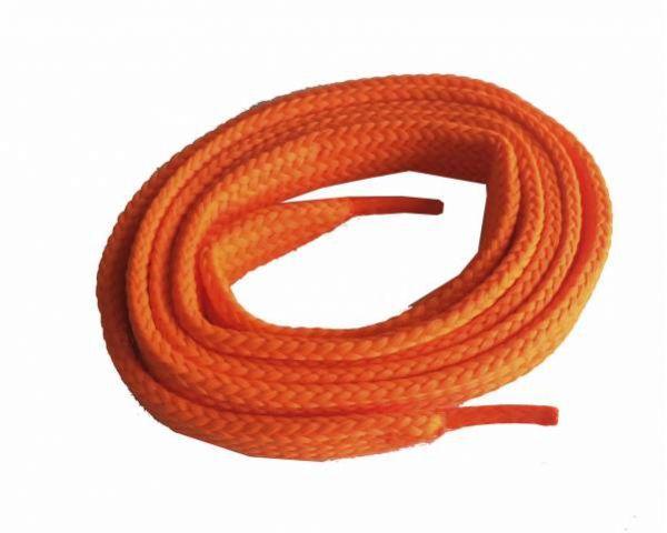 Cordón plano ancho skate naranja fluorescente