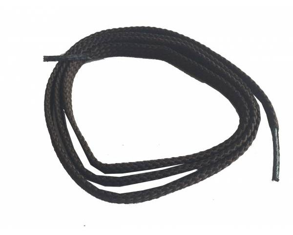 Cordón plano fino marrón oscuro