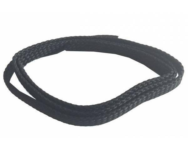 Cordón plano fino negro