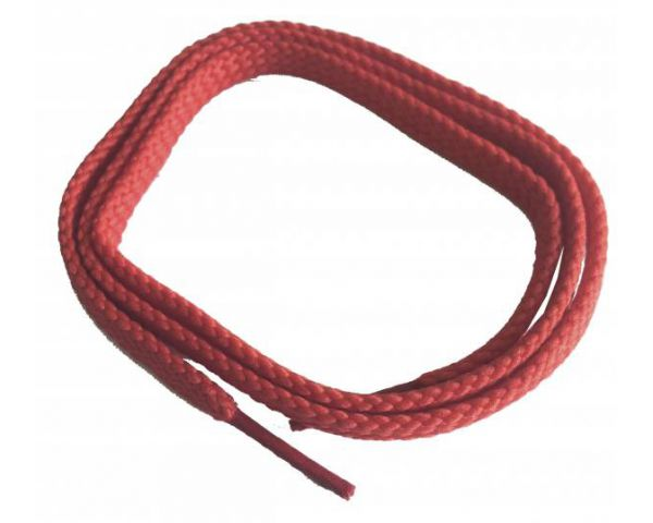 Cordón plano fino rojo