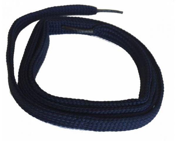 Cordón plano fino azul marino