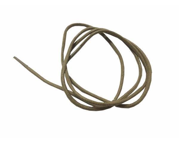 Cordón encerado redondo Camel Claro