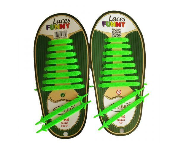 Funny Laces Verde Fluorescente